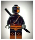Deathstroke (Black) From Batman - Custom Designed Minifigure